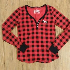 Victoria's Secret PINK Plaid Sleepwear Shirt